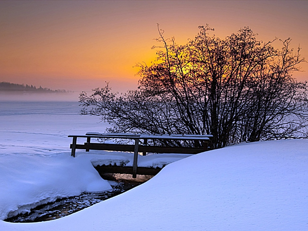 Winter Sunset Desktop Backgrounds wallpaper wallpaper hd 1024x768