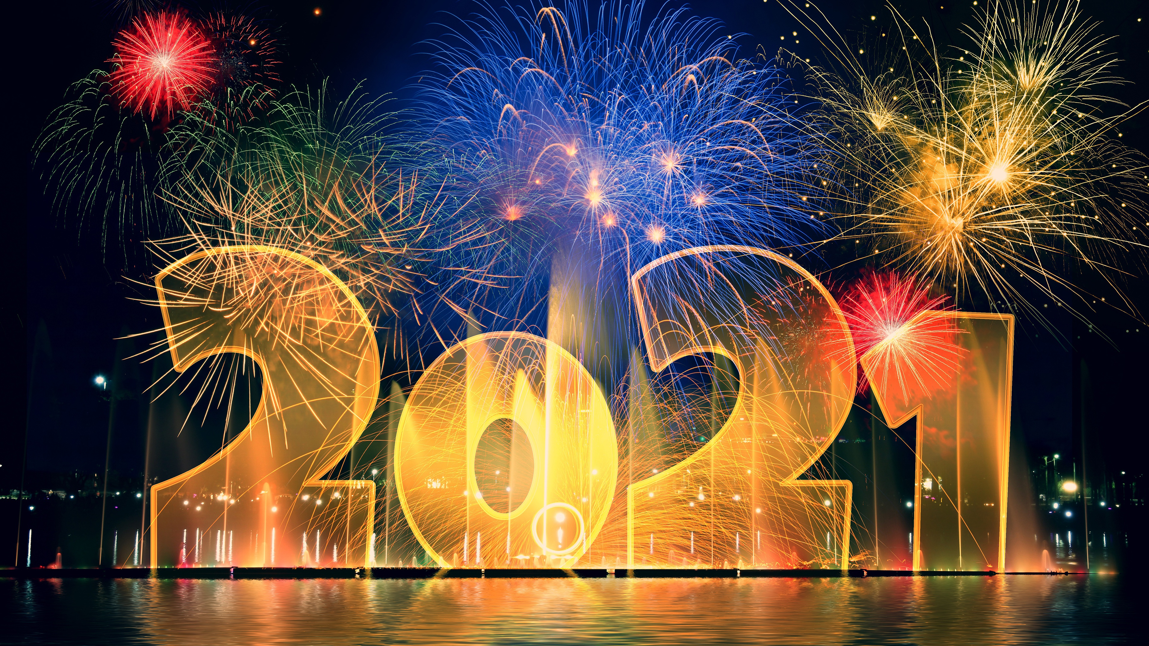 Happy New Year 2021 Background Wallpaper 38402160 32914 HD 3840x2160