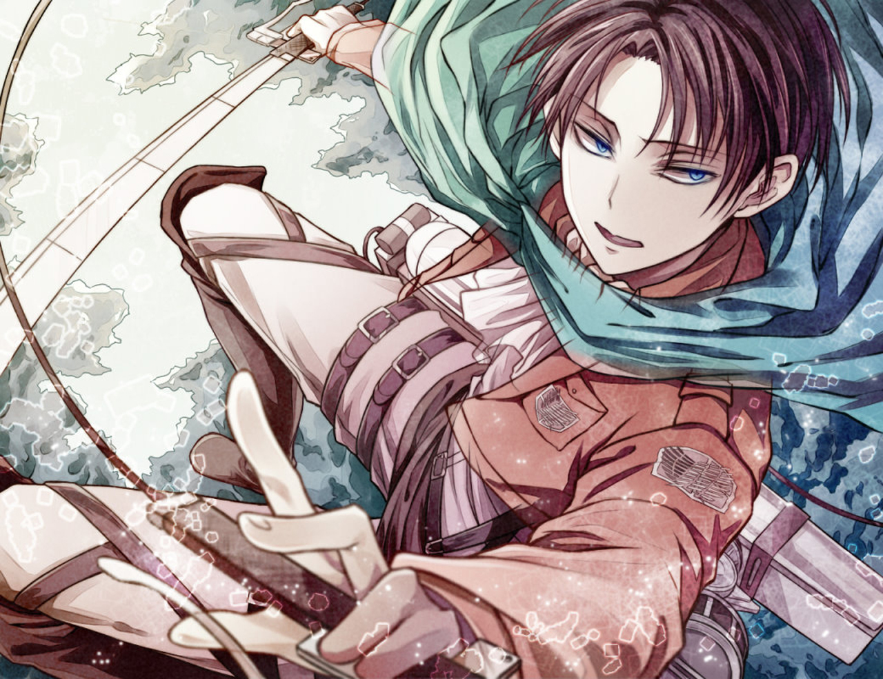 Attack on Titan Shingeki no Kyojin Rivaille Levi Anime Sword Blade HD 1280x985