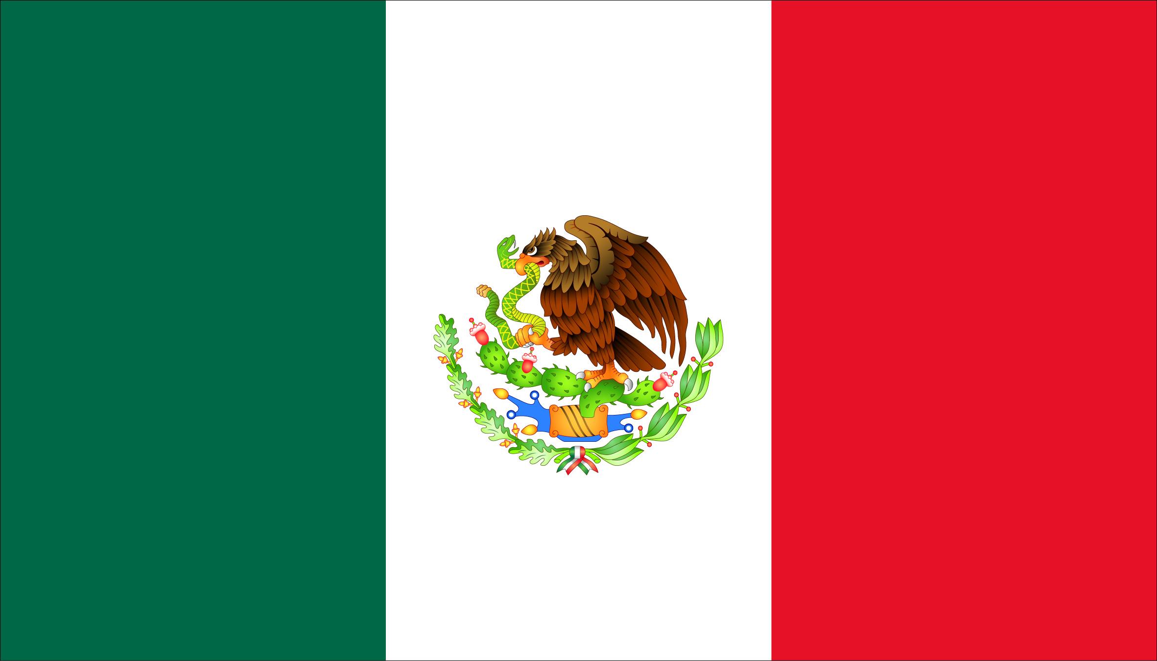 Mexico Flag Wallpaper 2363x1351