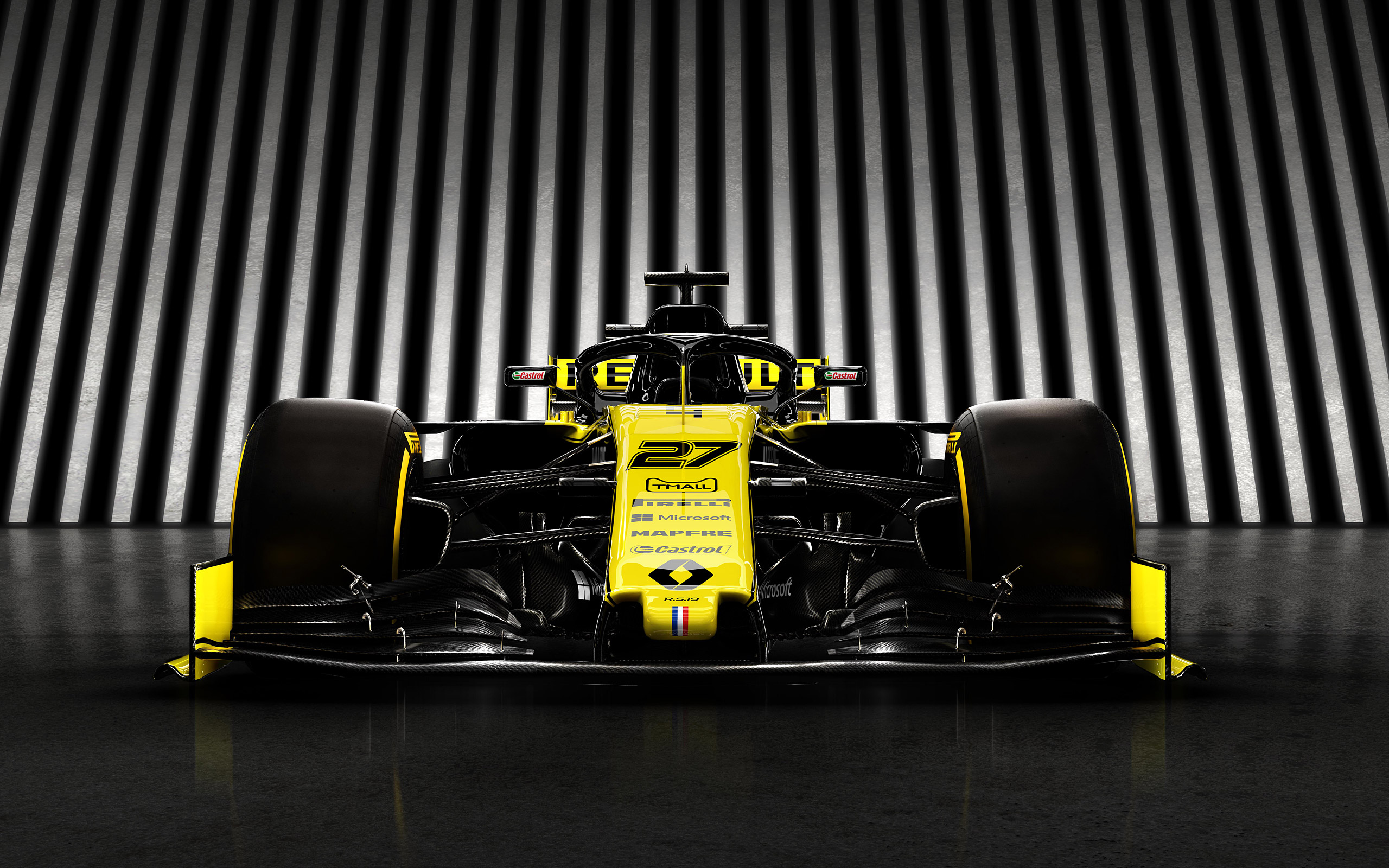 Download wallpapers Renault RS19 2019 Formula 1 car F1 front 2560x1600
