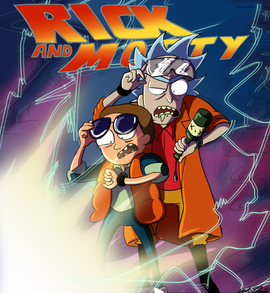 The Rick and Morty Hot Cartoon Animation Poster Vintage Retro 933x1011