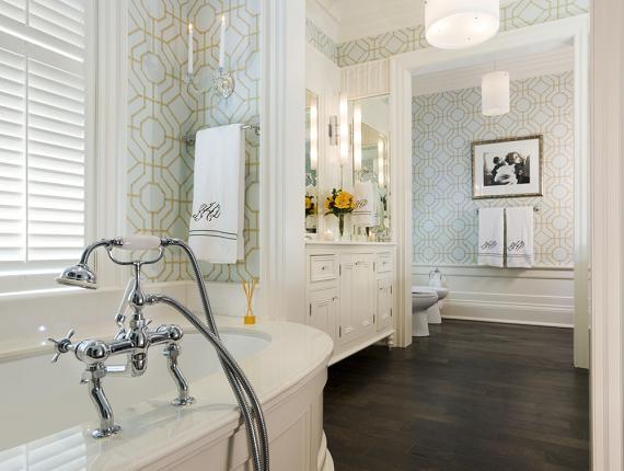 wallpaper bathroom wallpaper master bathroom wallpaper oval bathtub 570x430