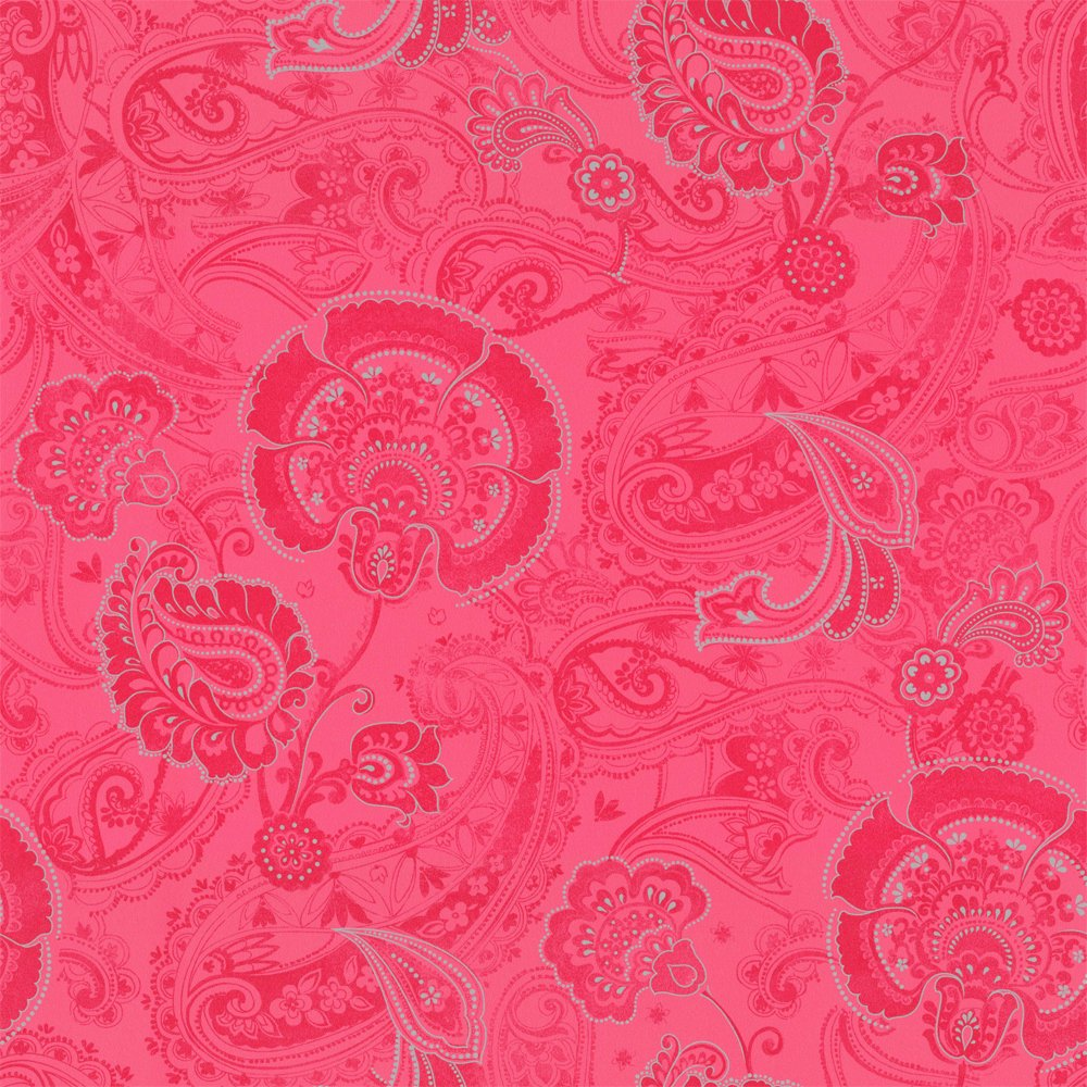 Pink paisley wallpaper wallpapersafari for Paisley wallpaper