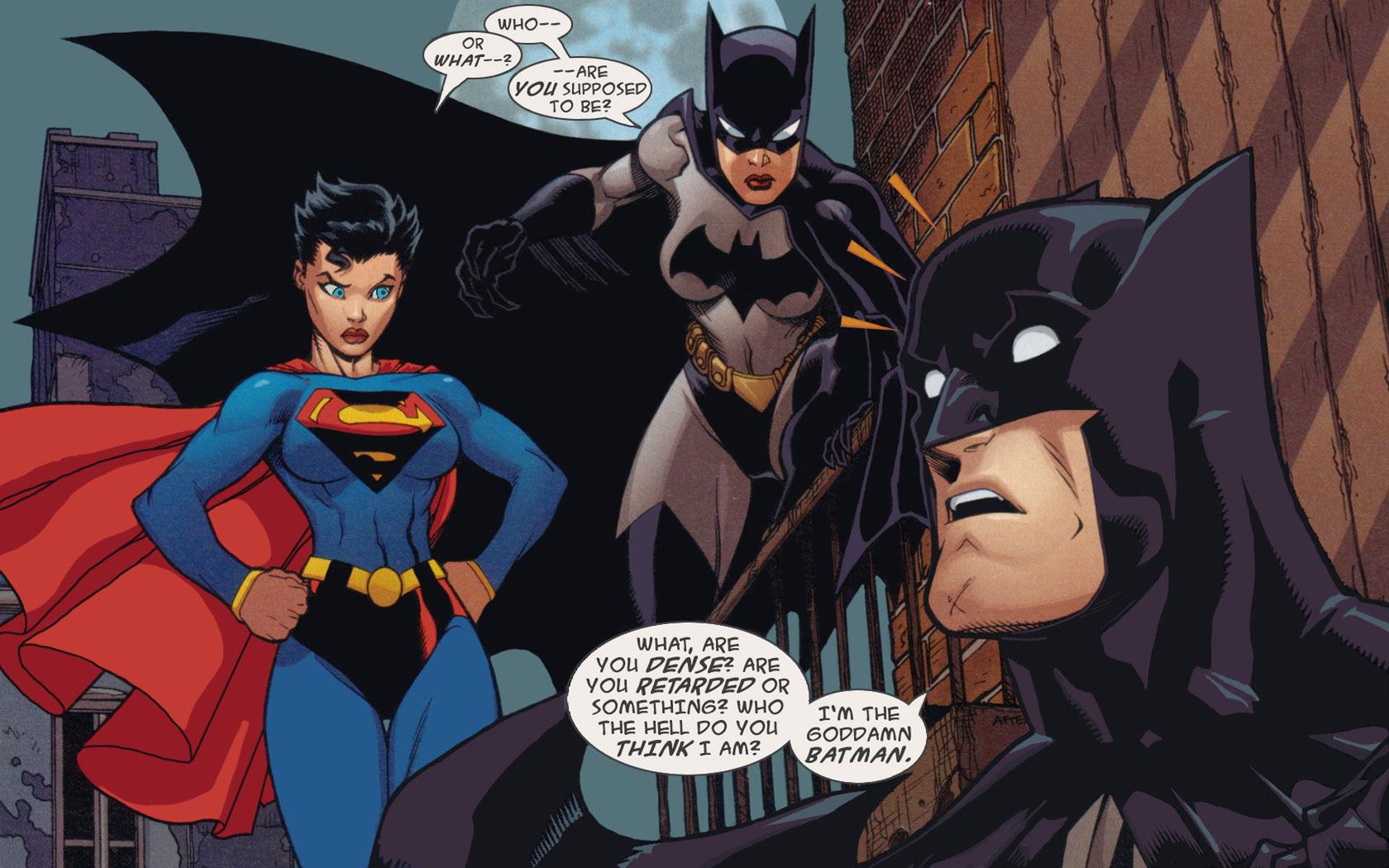 Download Superwoman Catwoman and Batman wallpaper 1680x1050