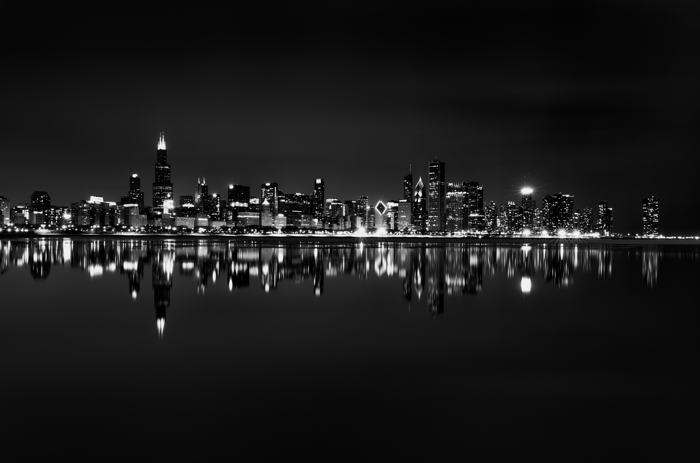 Skyline Black and White Wallpaper in High Resolution at City Wallpaper 2394x1586