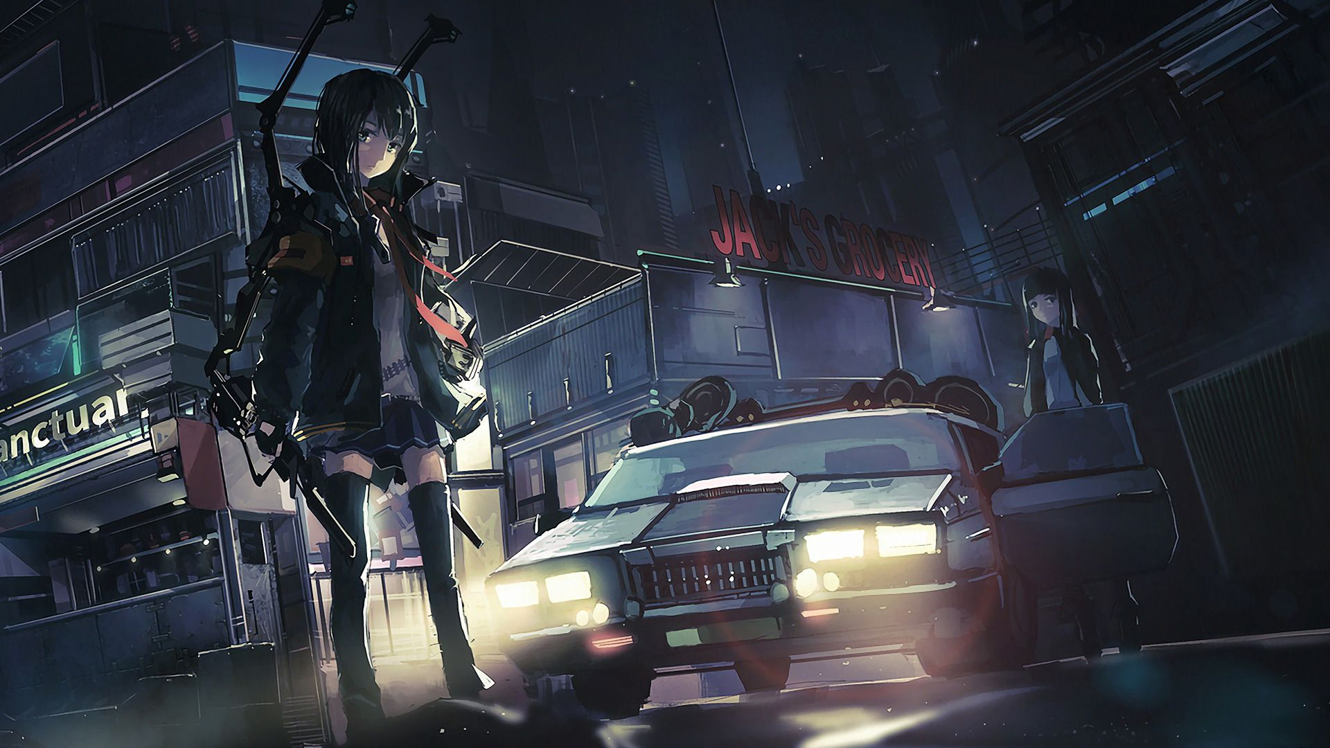 Car Anime Wallpapers   Top Car Anime Backgrounds 1920x1080