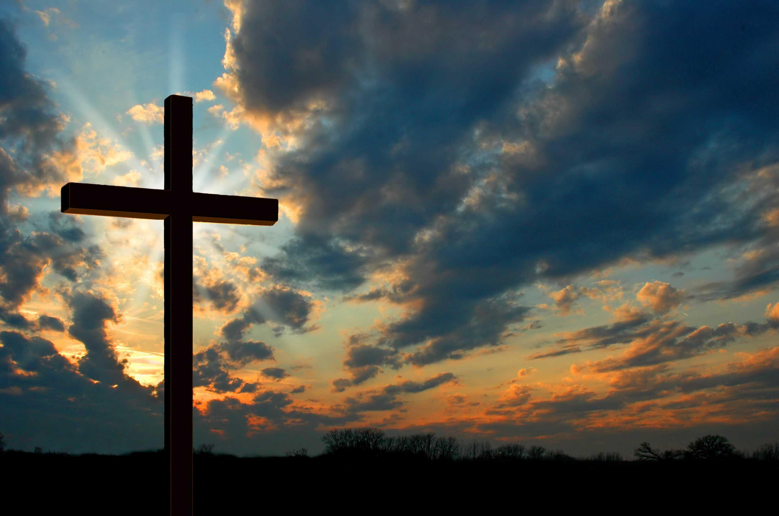 Christian Kreuz Kirche Desktop Wallpaper Sonnenuntergang 900x600