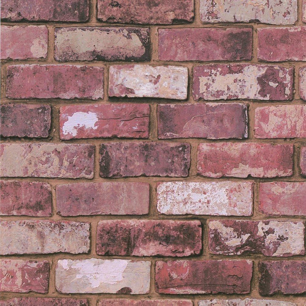 Wallpaper Graham Brown Graham Brown Hemingway Red Brick 1000x1000