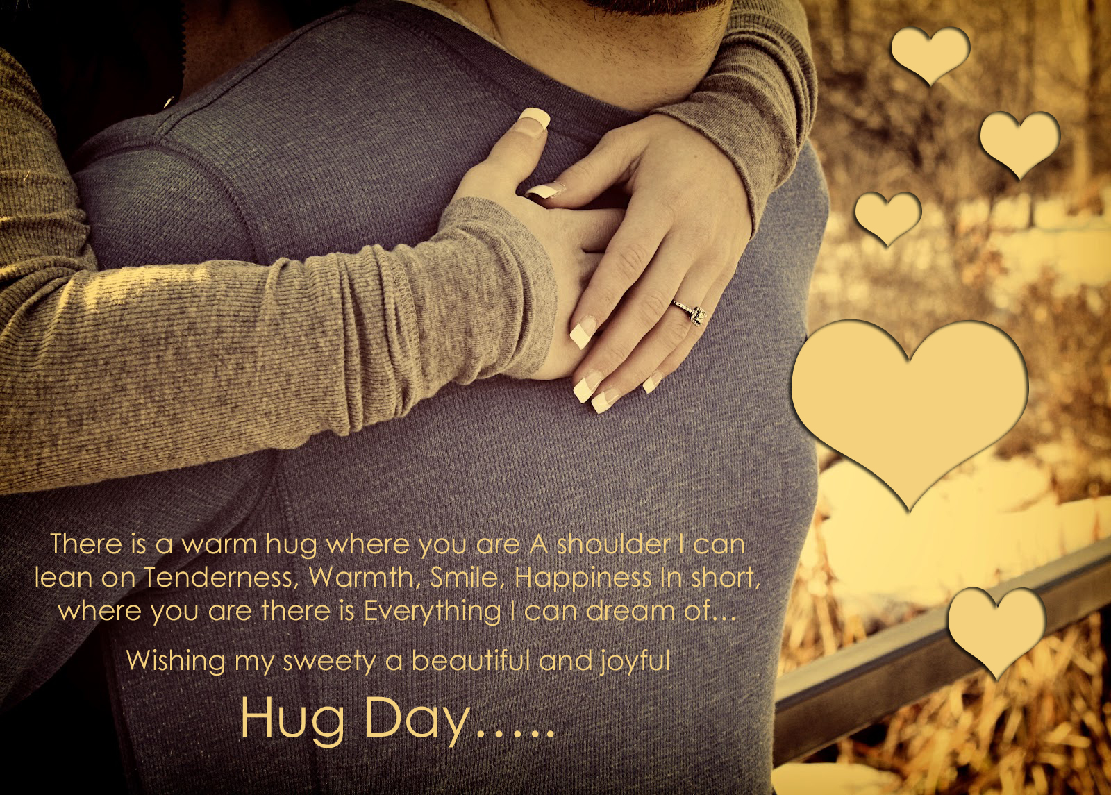 Sending Hugs And Kisses Quotes Happy hug day 2014 wishes 1600x1145