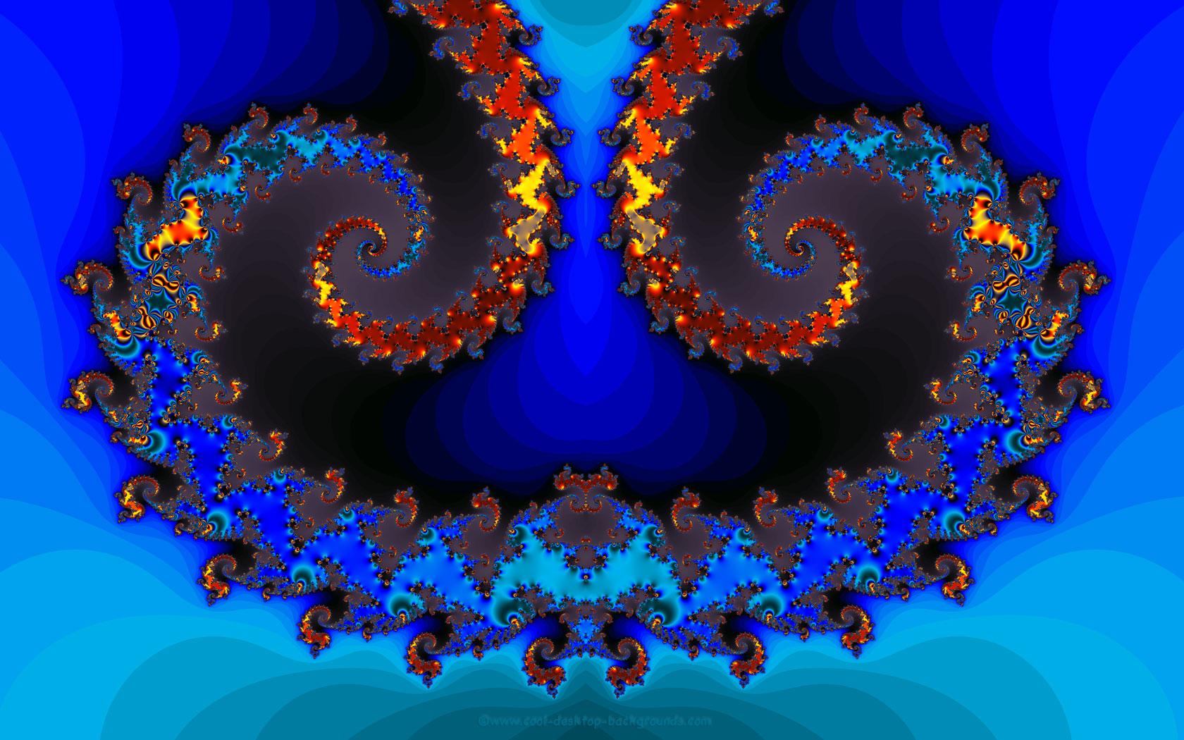 Fractal Mirror Background   Fractals Background Wallpaper   1680x1050 1680x1050