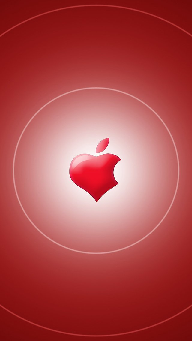 Wallpaper Weekend Apple Logo Valentines Walls for iPhone and iPad 640x1136