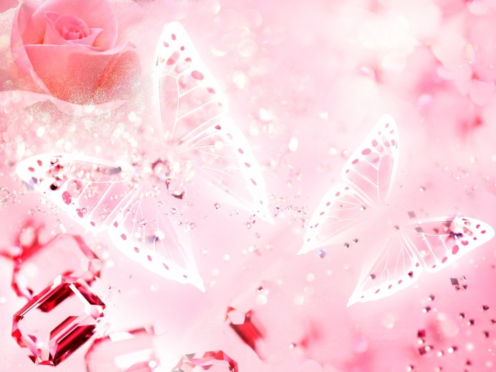 Pink Butterfly Wallpapers Background at Abstract Monodomo 1024x768