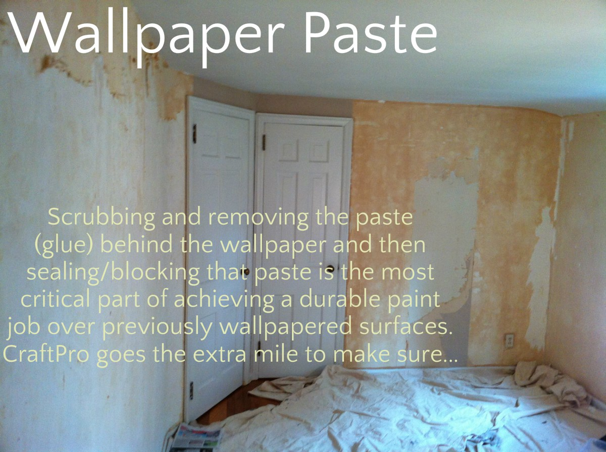 wallpaper paste or glue must be scrubbed and removed and then sealed 1200x896