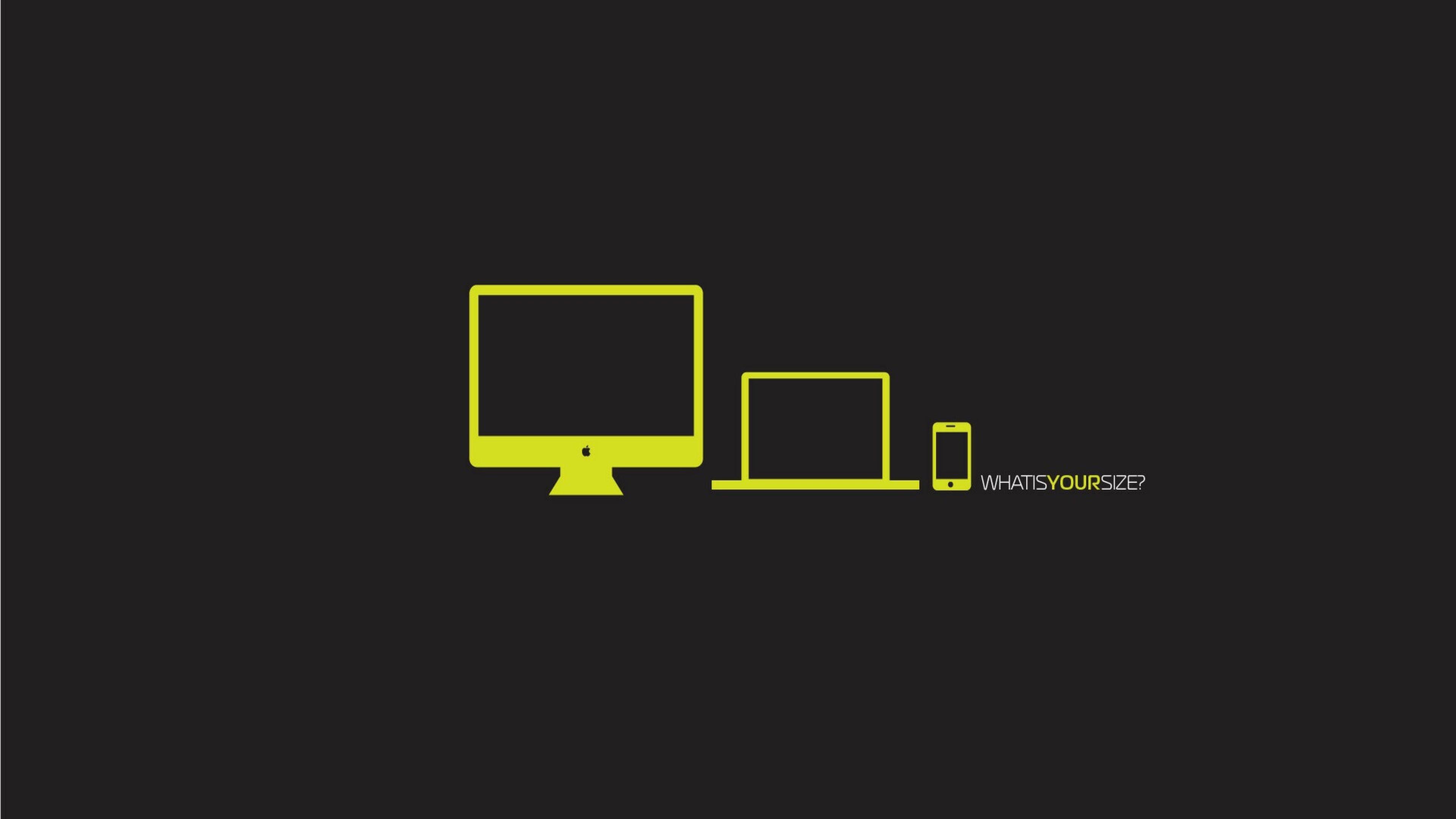 Preview wallpaper apple yellow computer macbook iphone 3840x2160 3840x2160