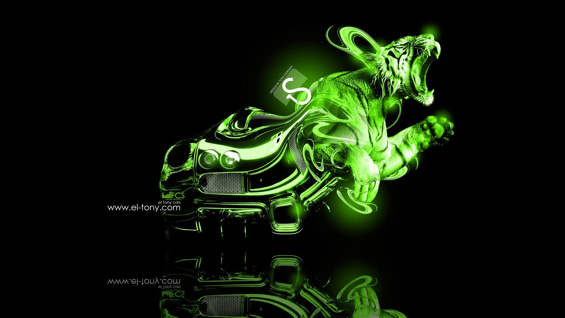 Neon Green Wallpaper Design Bugatti veyron gold tiger 2013 1920x1080