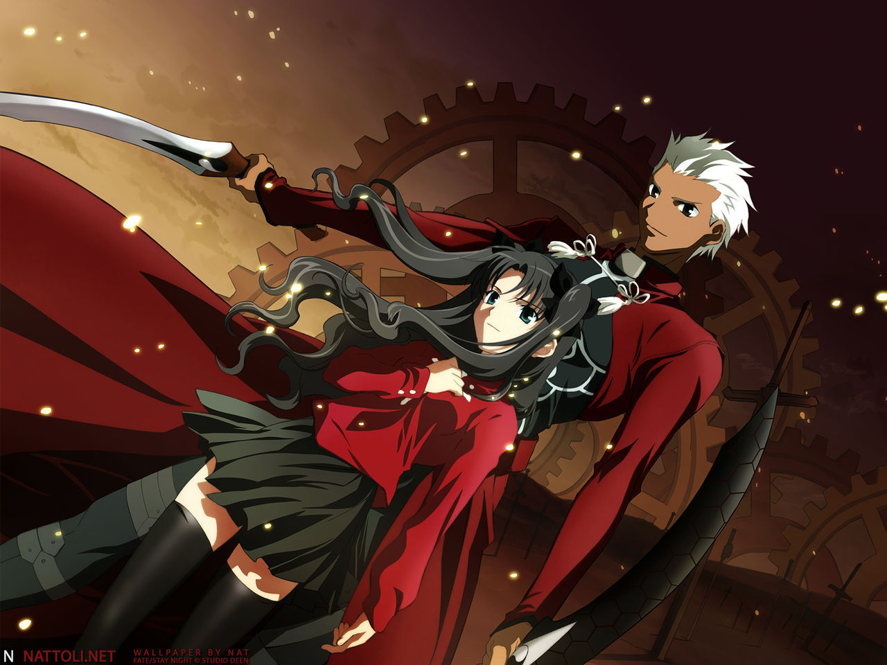 Archer and Rin   Fate Stay Night Wallpaper 4105999 1280x960