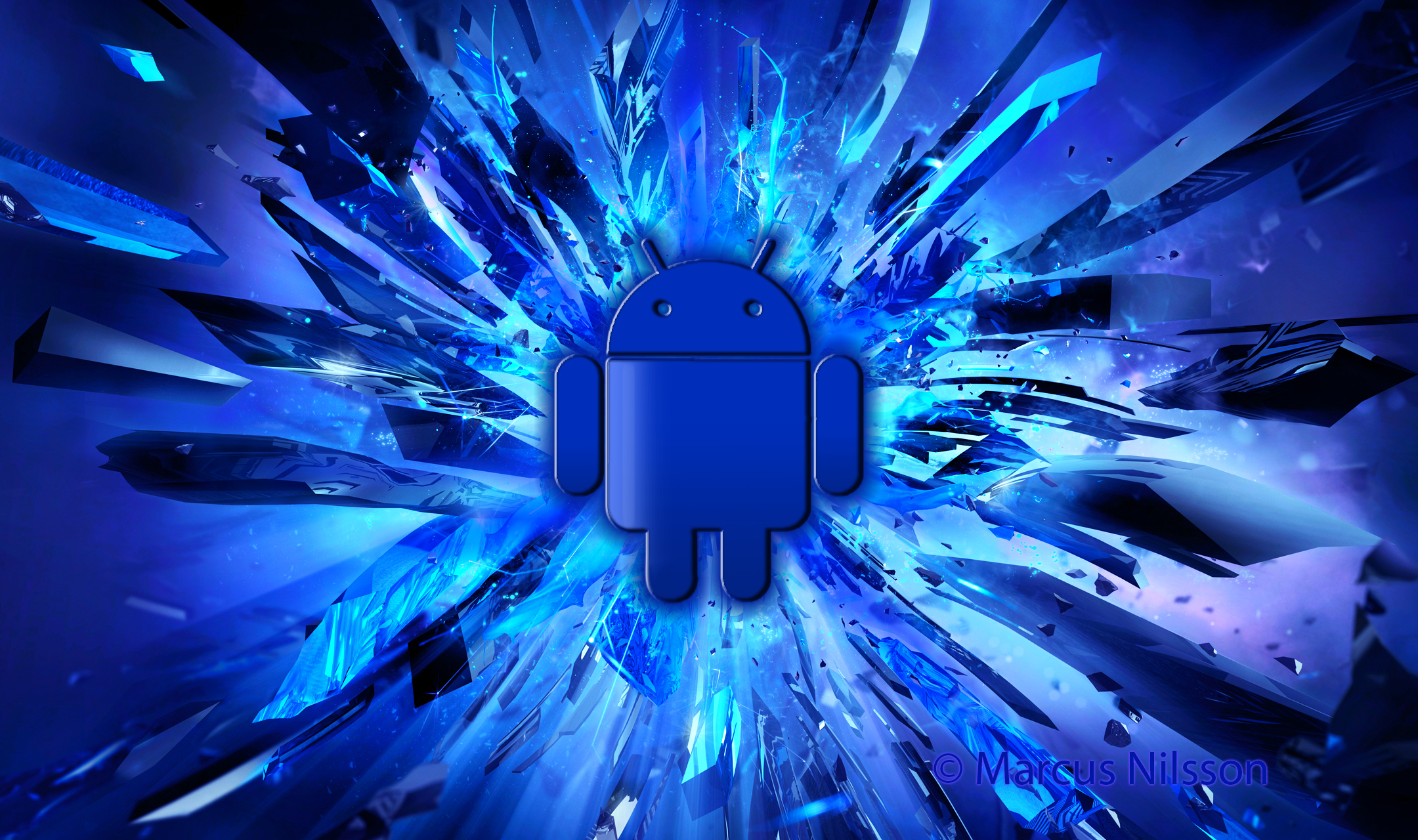Blue android wallpaper Funky Fresh Studio 2160x1280