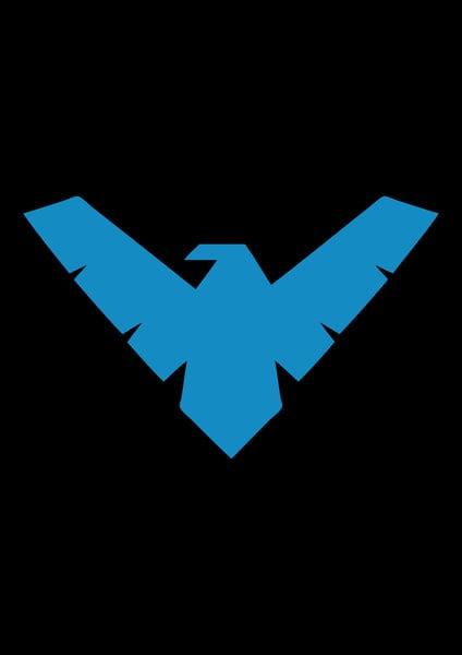 Nightwing Iphone Wallpaper Nightwing Logo Batman Iphone Wallpaper 424x600