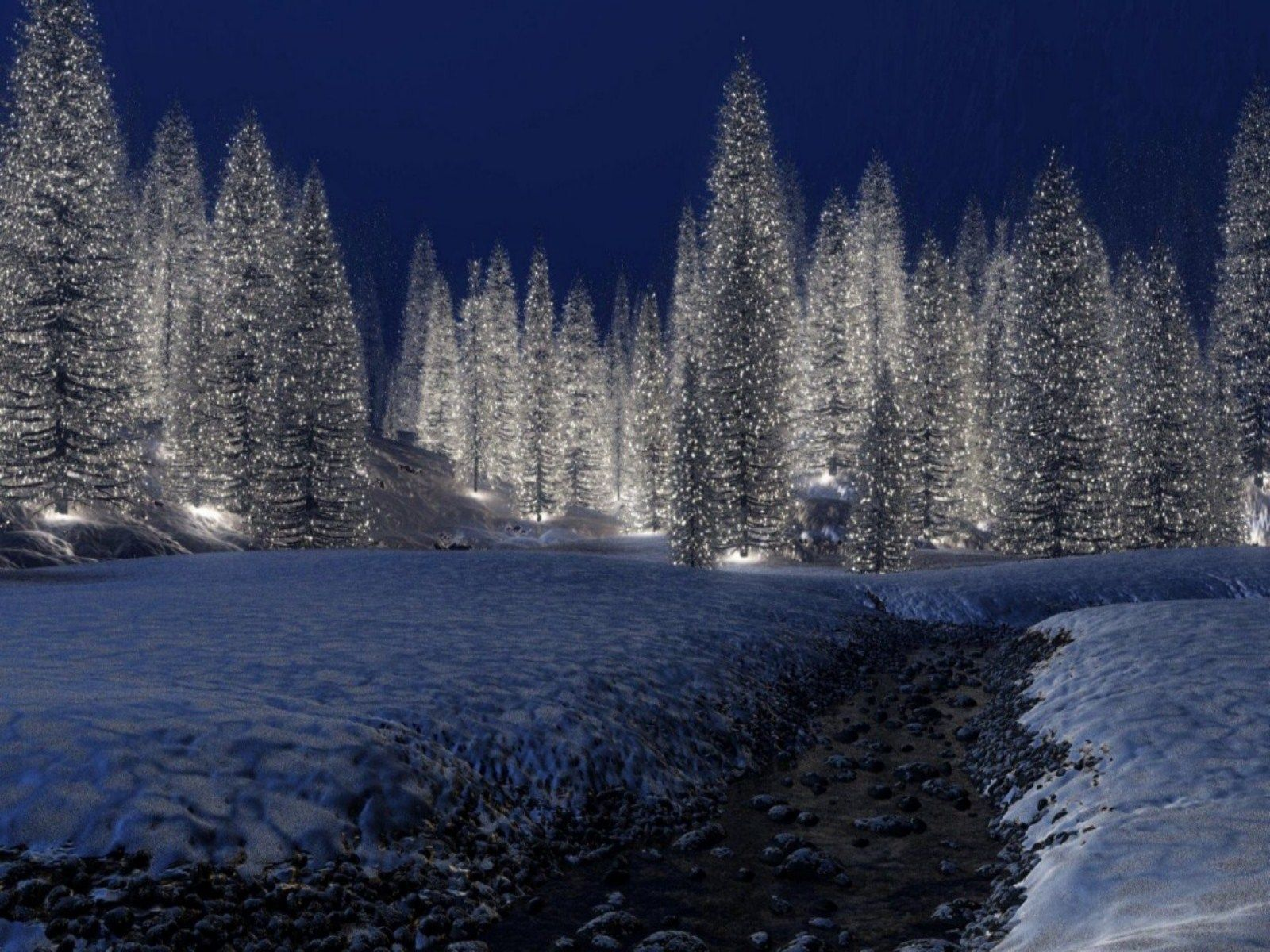 christmas scenery Download HD Snowy Christmas Scene 1600x1200