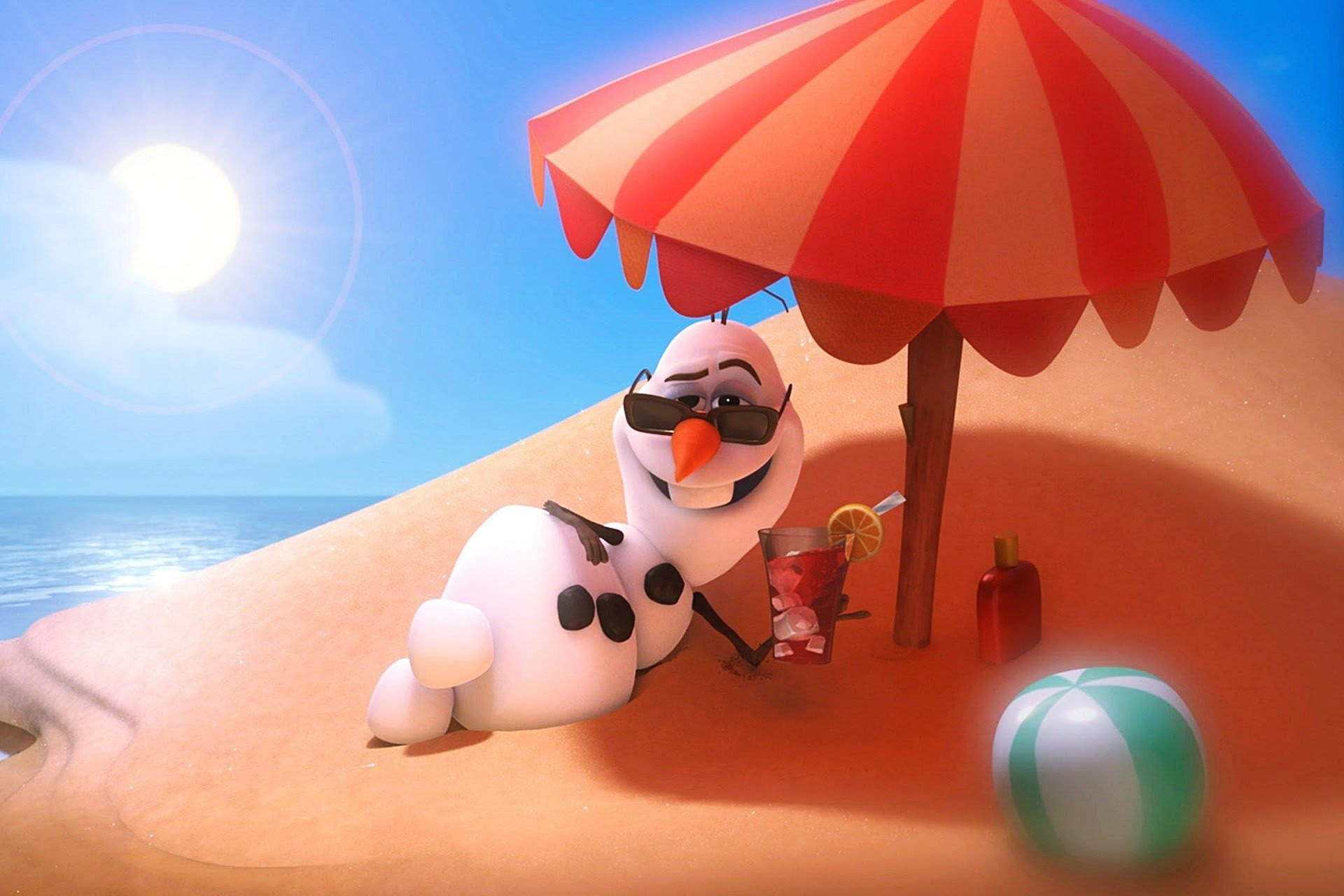 Frozen Olaf in Summer Song images 1920x1280