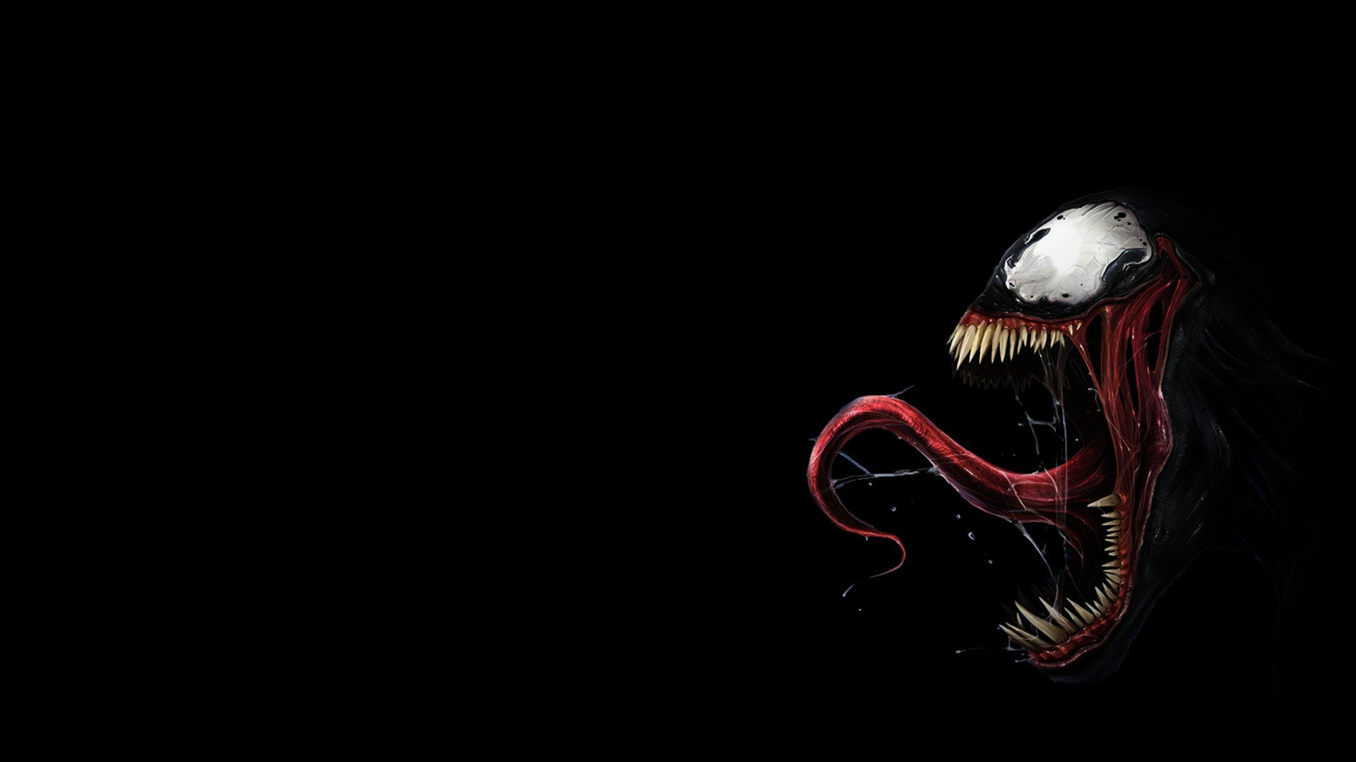 DC Comics Venom Spider Man tongue teeth Villain wallpaper 1920x1080 1920x1080