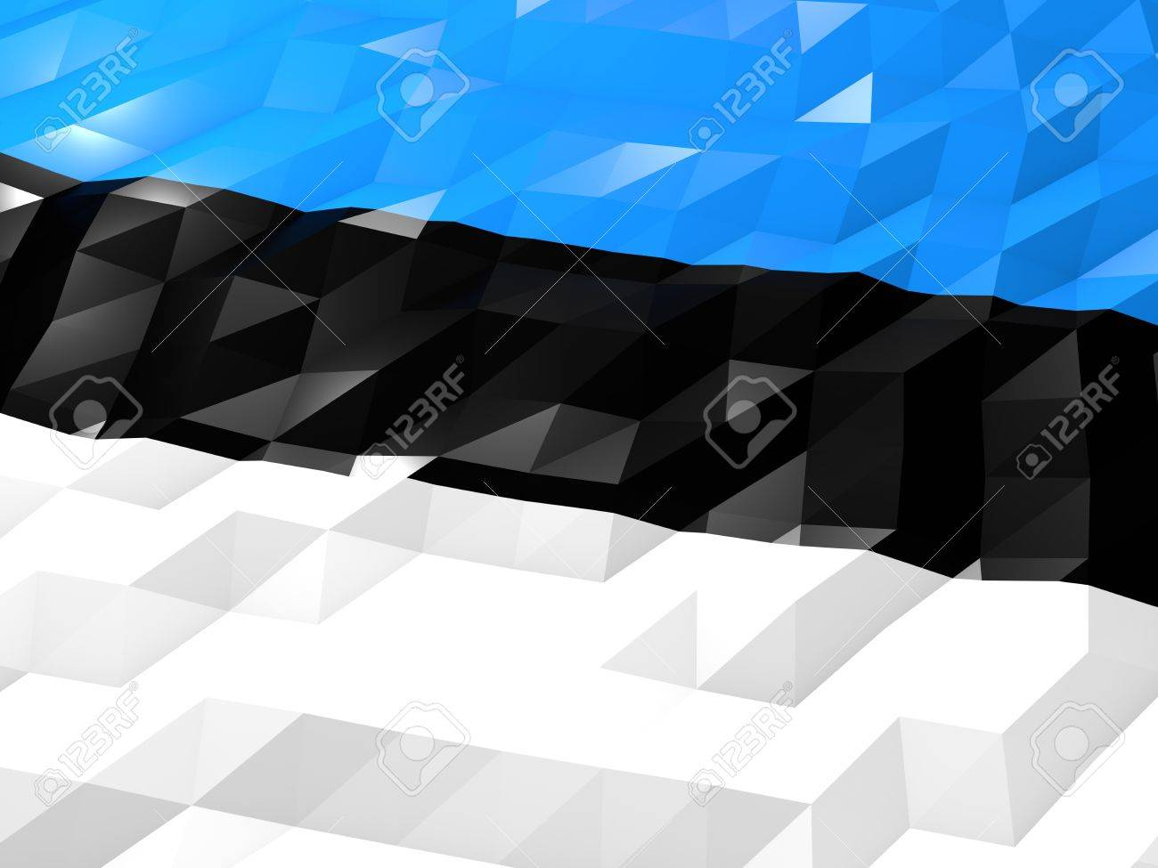Flag Of Estonia 3D Wallpaper Illustration National Symbol Low 1300x975