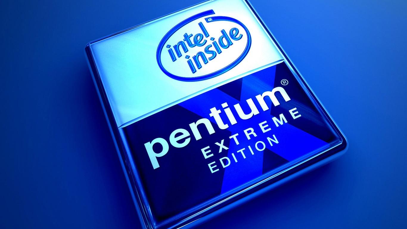 1366x768 Blue Pentium desktop PC and Mac wallpaper 1366x768