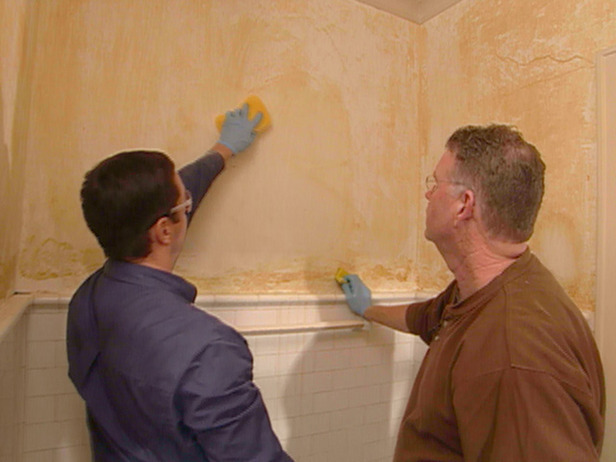 Remove a Linen Cloth Wall Covering from Plaster Walls How To DIY 616x462