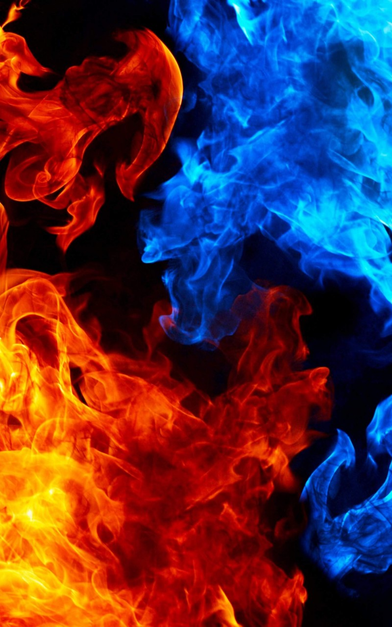 Blue And Red Fire HD wallpaper for Kindle Fire HD   HDwallpapersnet 800x1280