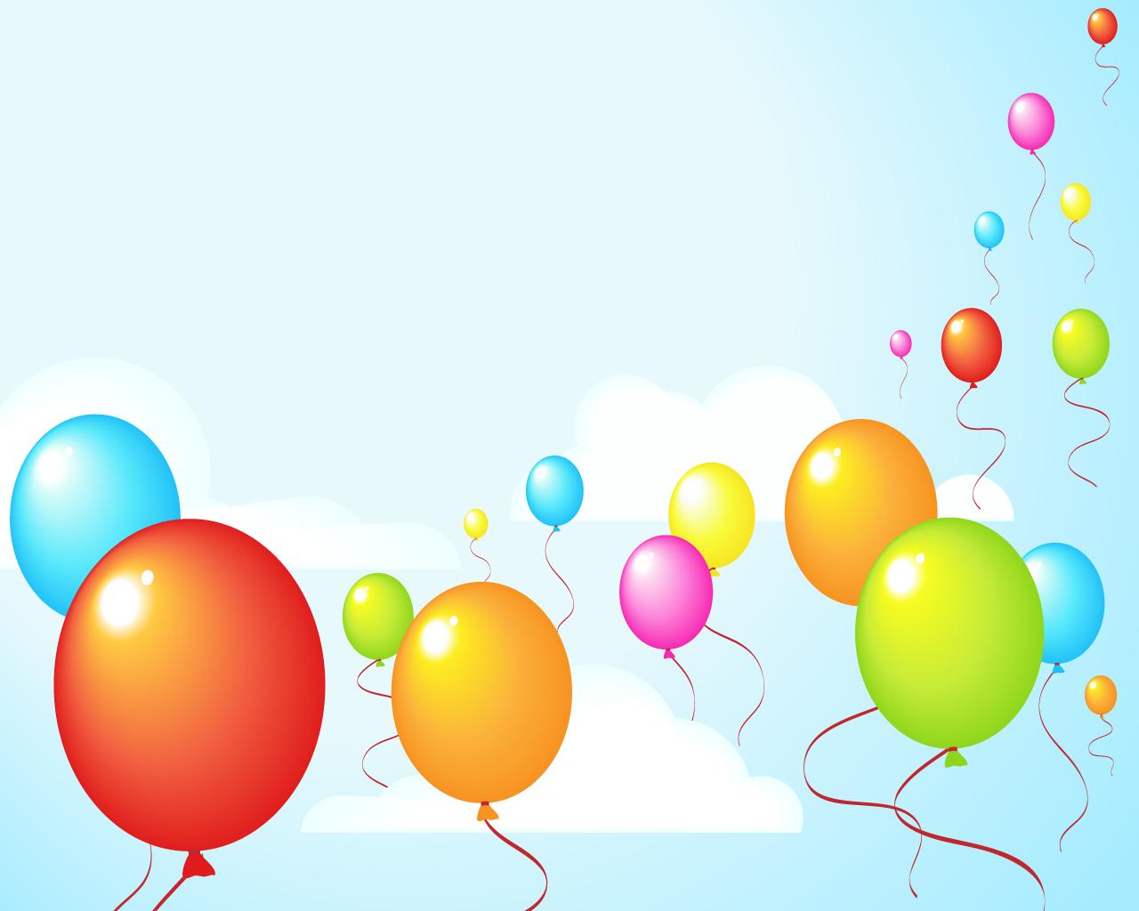 party balloons wallpaper   ForWallpapercom 1280x1024