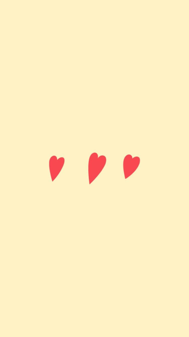 Cute Yellow Heart Snapchat background wallpaper Iphone 750x1334