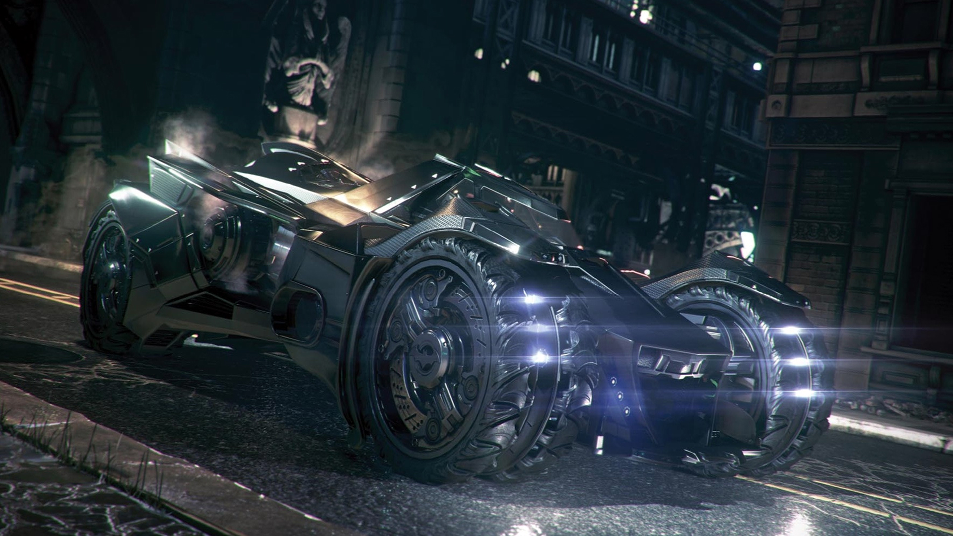 new batmobile batman arkham knight game hd 1920x1080 1080p wallpaper 1920x1080