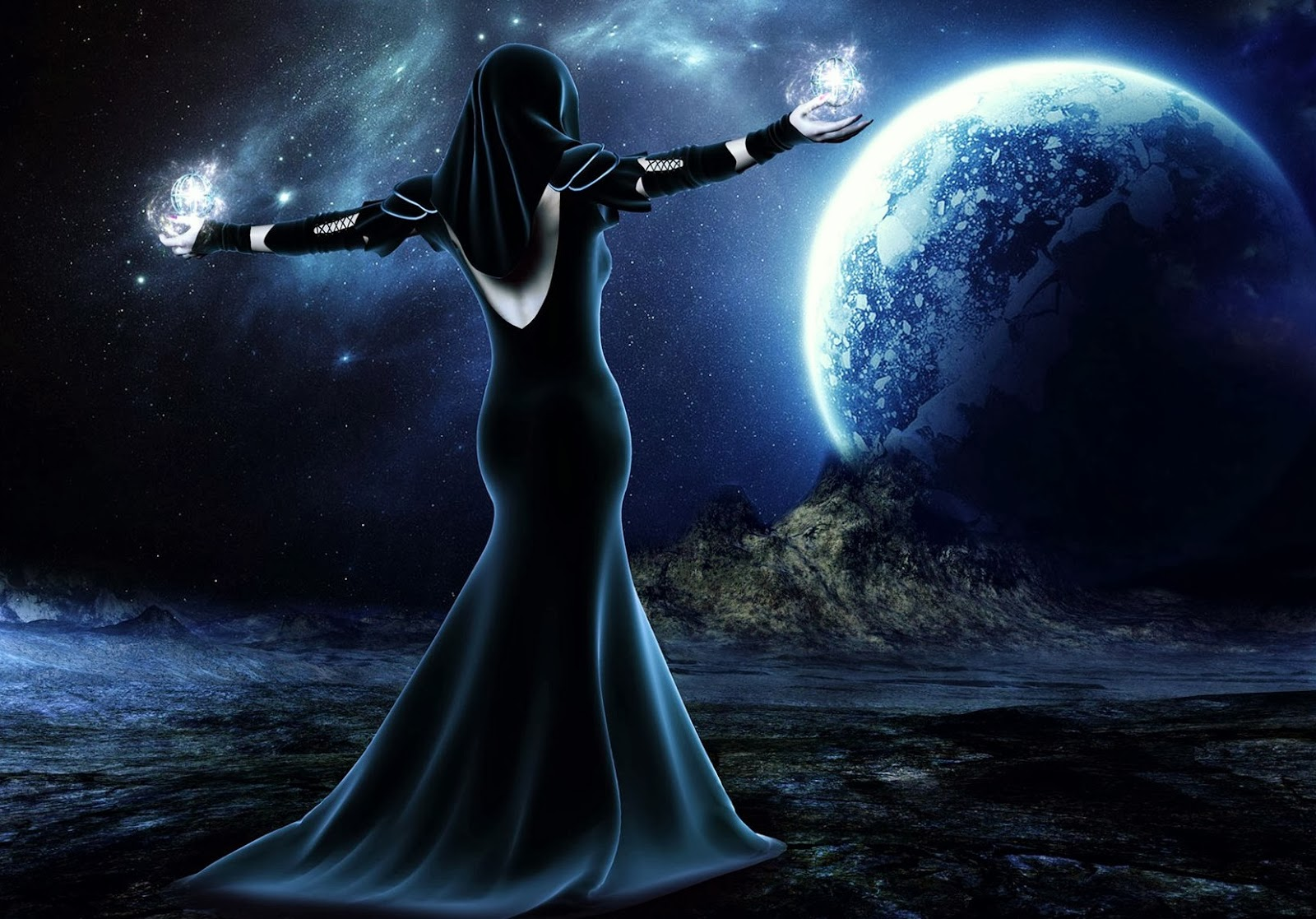 Fantasy pictures with witches Barbaras Fantasy World 1600x1117