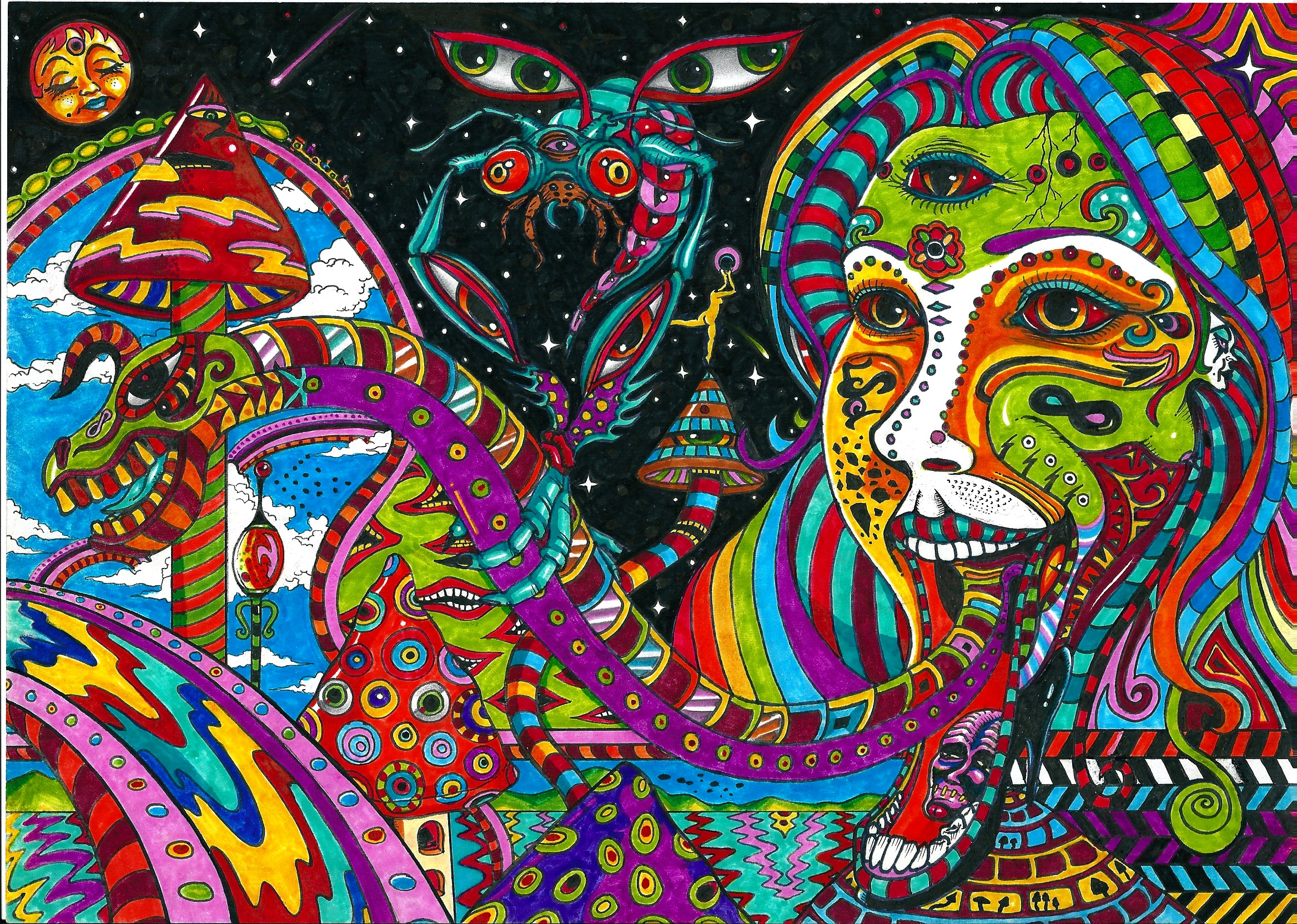 titre by acid flo traditional art drawings psychedelic 2011 2015 acid 2336x1664