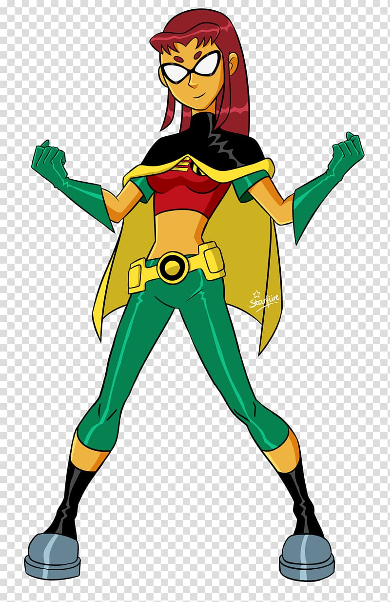 Starfire Robin Superhero Blackfire Teen Titans robin transparent 800x1233