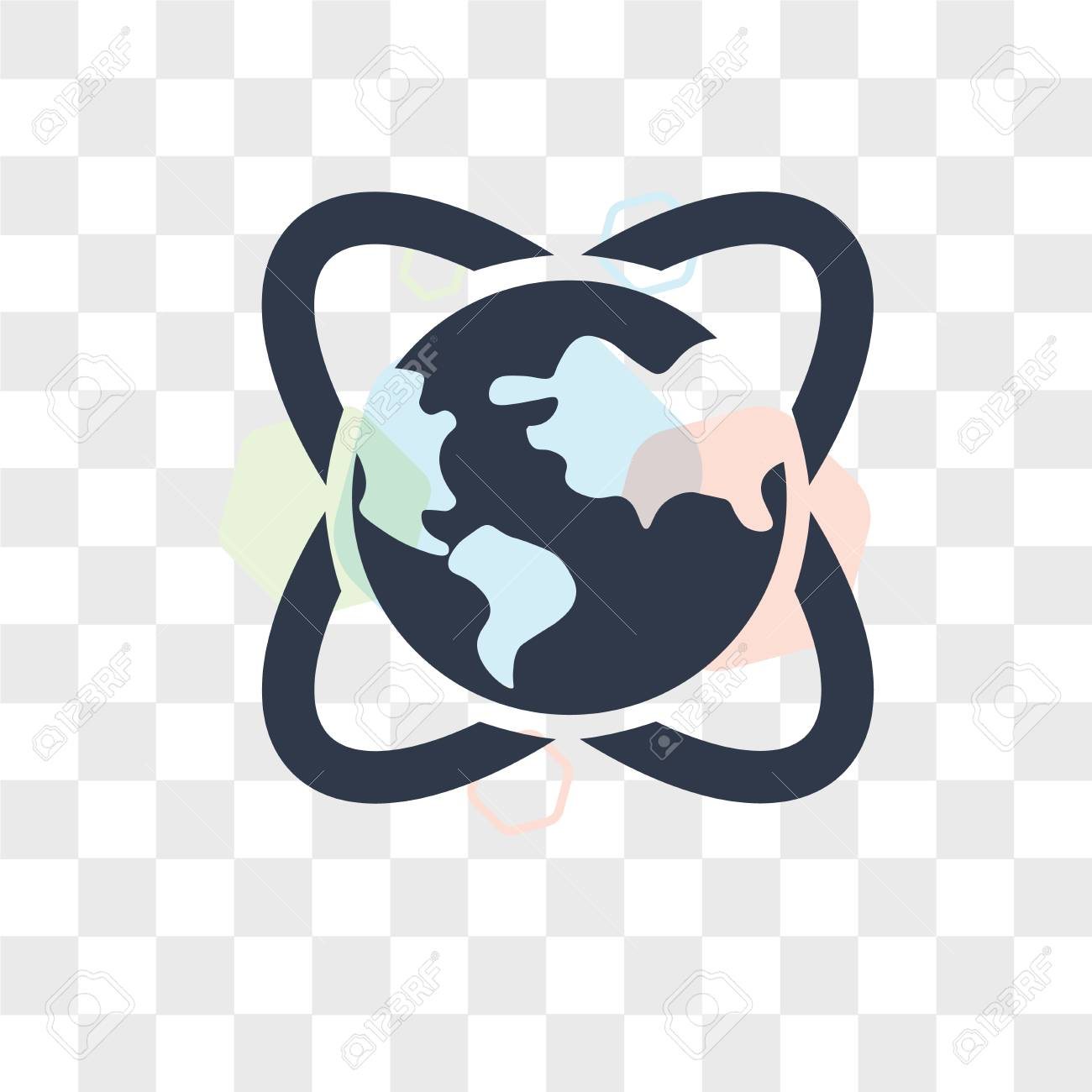 Global Awareness Vector Icon Isolated On Transparent Background 1300x1300