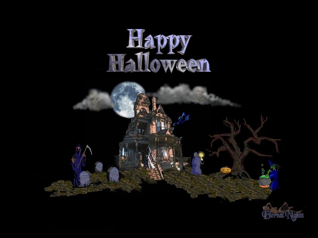 Haunted House Desktop Wallpaper 1024x768