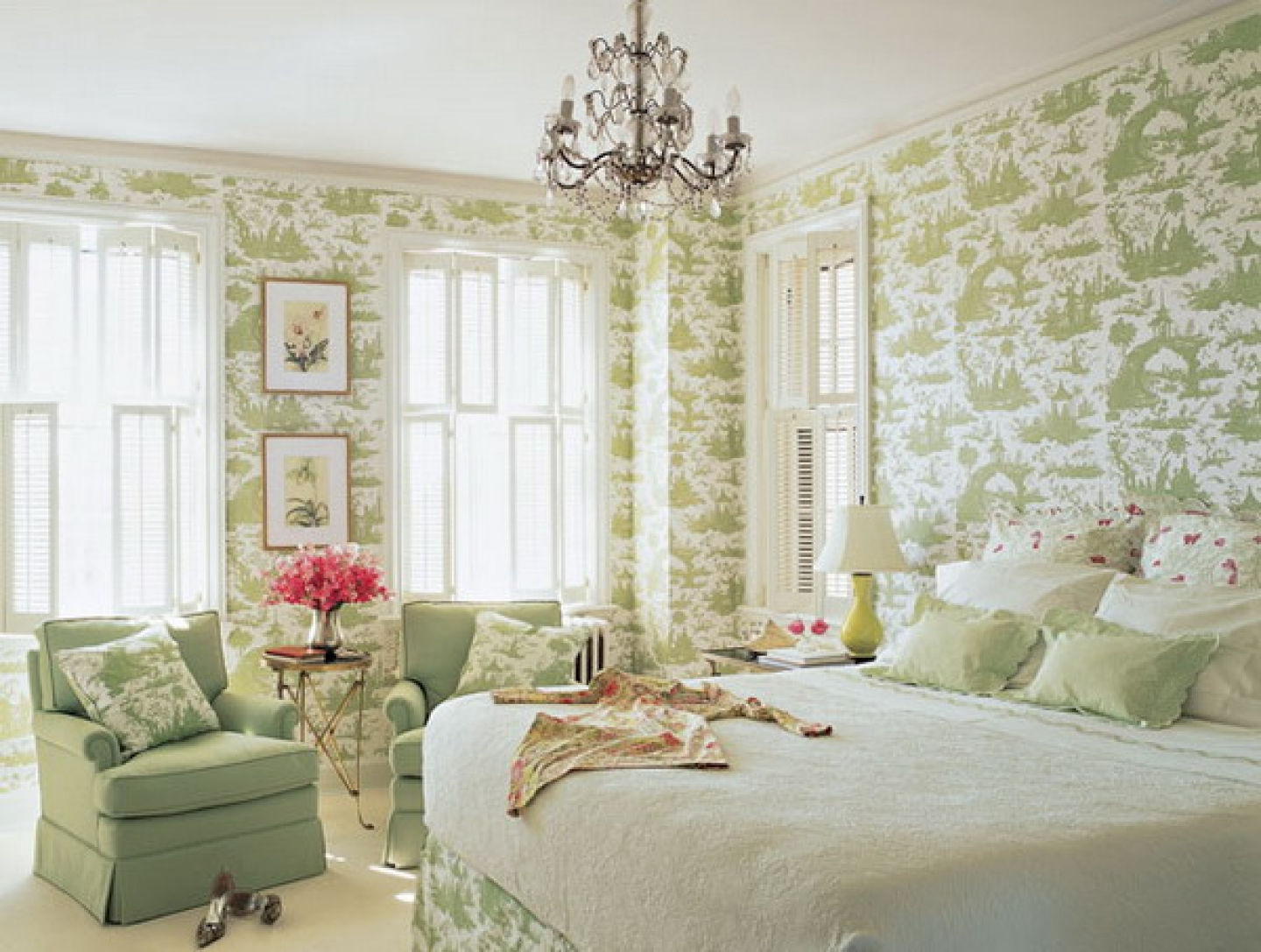 Romantic bedroom wallpaper decorating ideas picture amazing 1440x1087