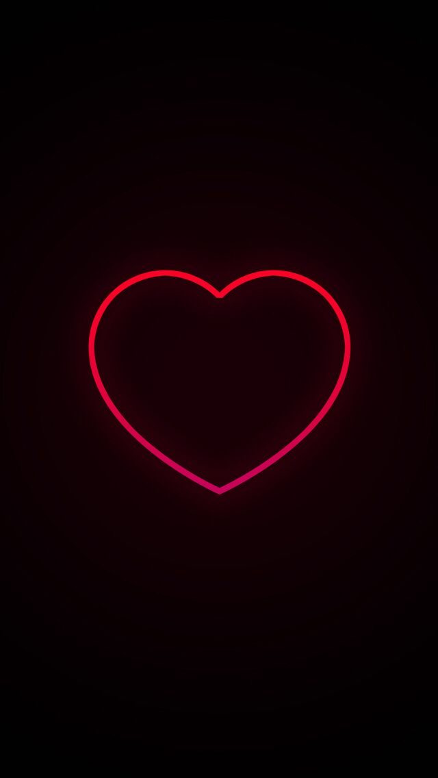 Neon Heart wallpapers Heart iphone wallpaper Wallpaper 640x1136