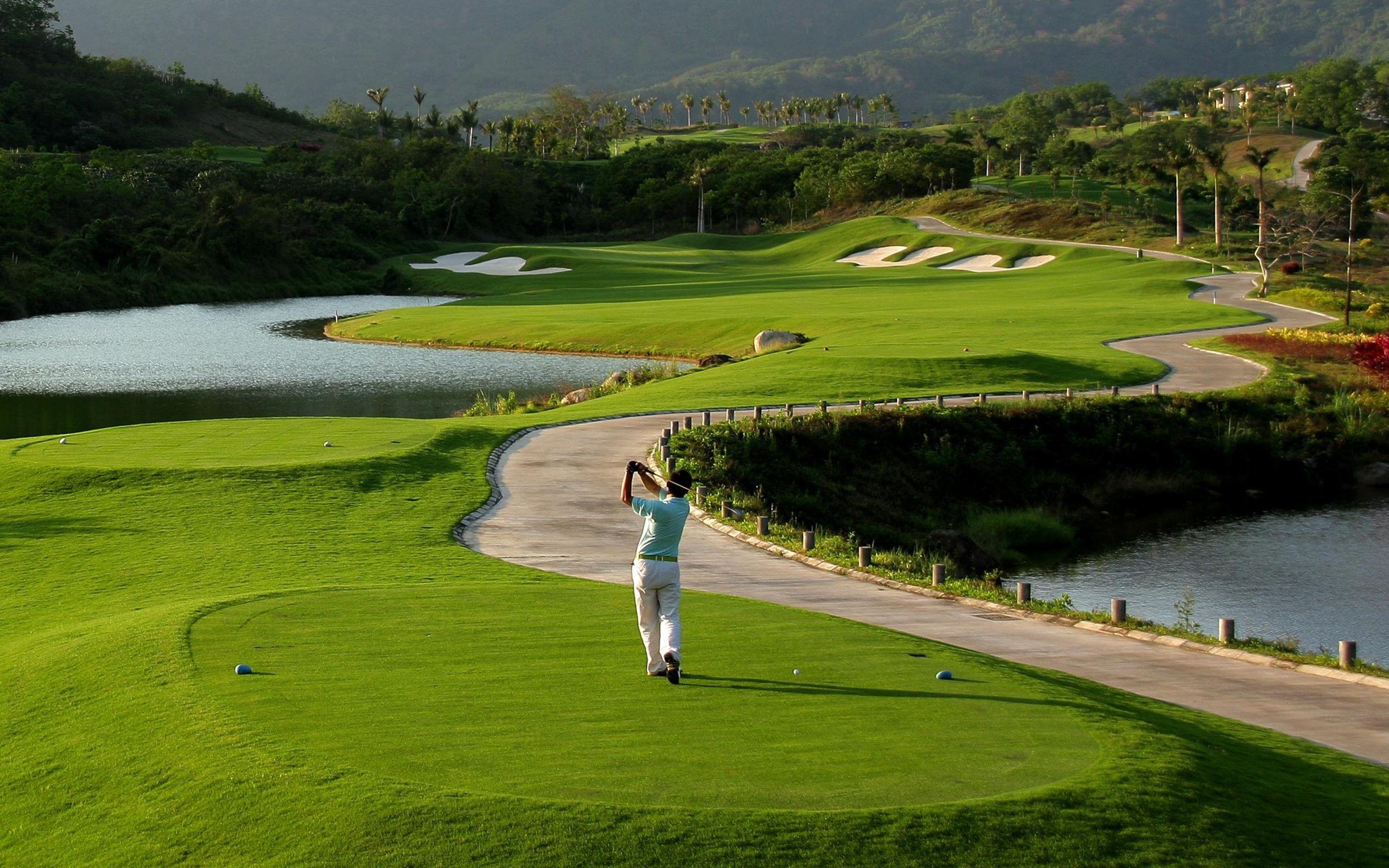 Hd golf desktop wallpaper wallpapersafari - Golf wallpaper hd ...