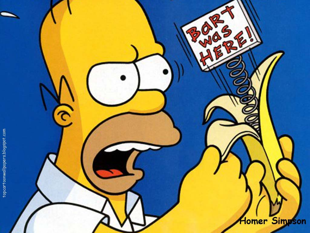 Top Cartoon Wallpapers Homer Simpson Wallpaper 1024x768