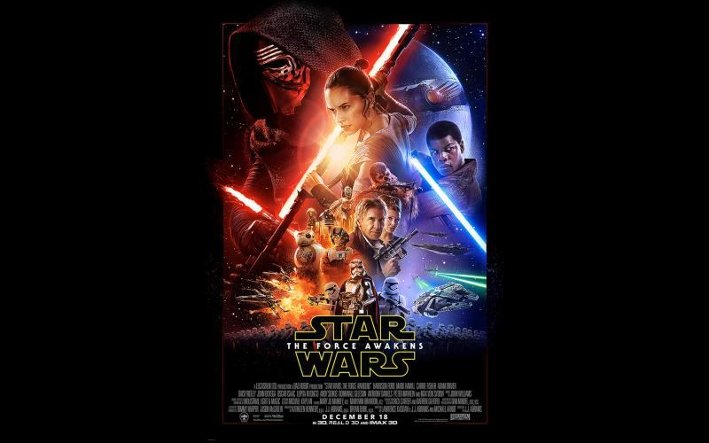 Star Wars The Force Awakens Official Poster Wallpapers 800x500