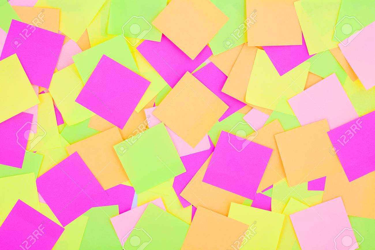 Many Colorful Post It Notes Background Radiant Colorful Reminder 1300x866