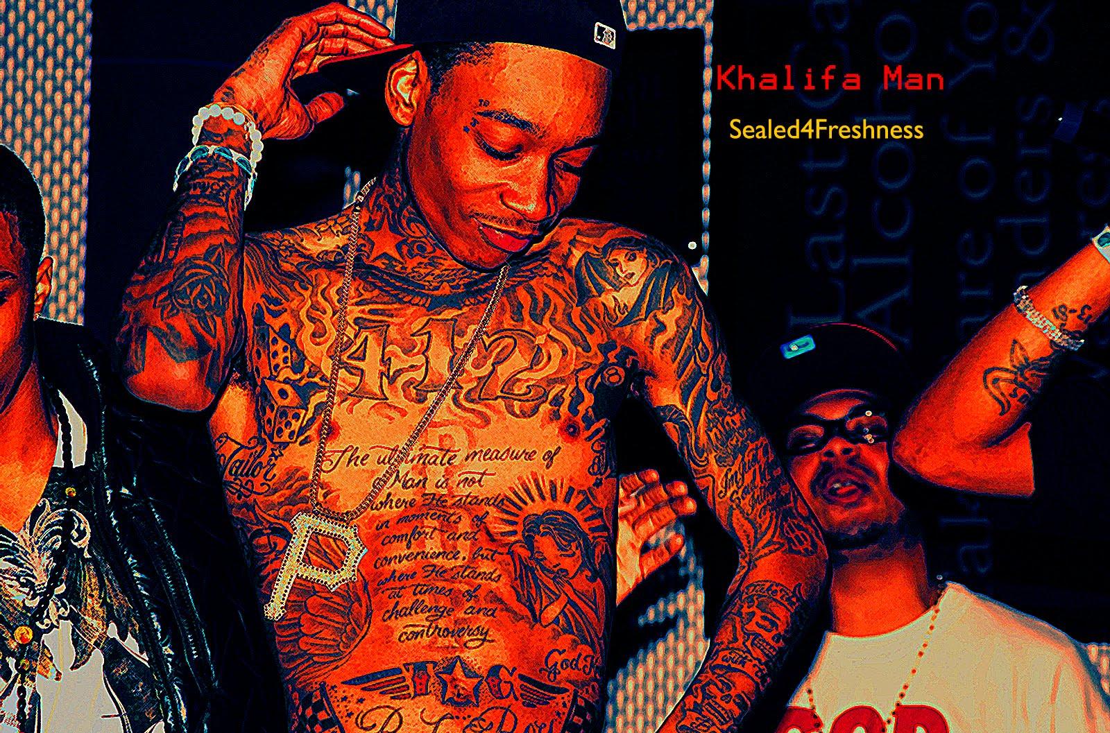 Wiz Khalifa desktop wallpapers screensaver background image photo tats 1600x1057