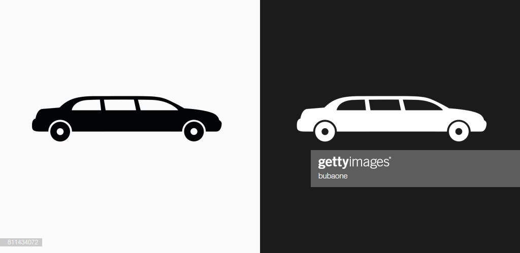 Limo Icon On Black And White Vector Backgrounds High Res Vector 1024x499