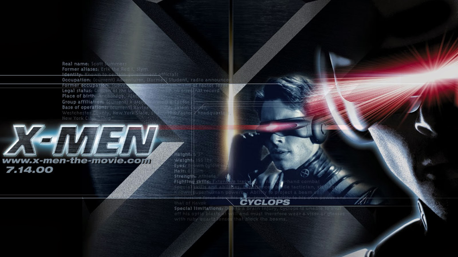 Cyclops X Men Movies 2014 Wallpaper HiresMOVIEWALLcom 1600x900