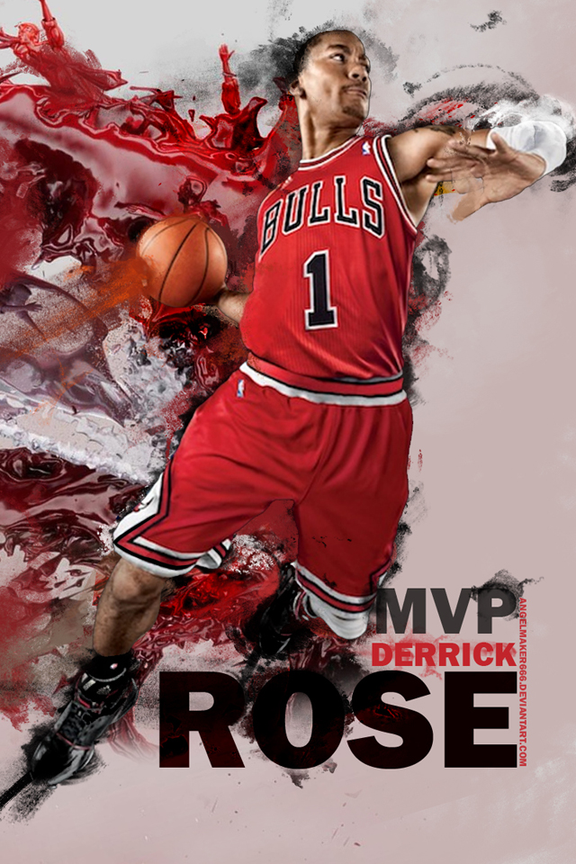 Derrick Rose MVP iPhone Wallpaper Sports Gallery iPhone 640x960