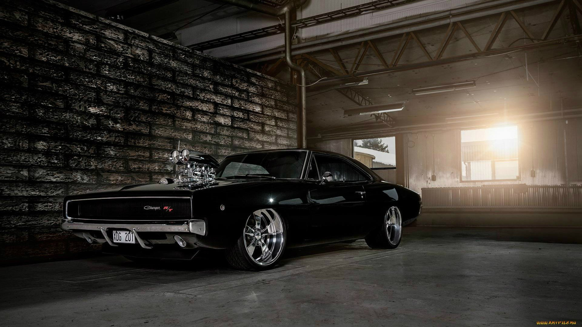 Dodge Charger 1968 muscle cars hot rod engine wallpaper 1920x1080 1920x1080