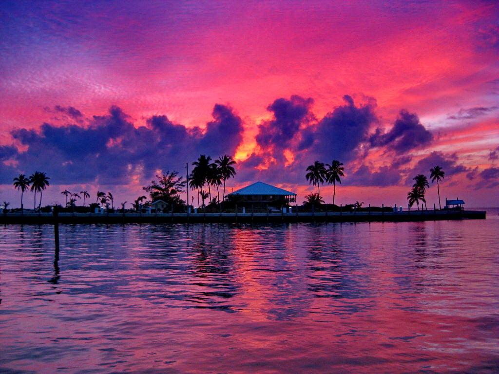 Caribbean Sunset Wallpaper Desktop - 230.7KB